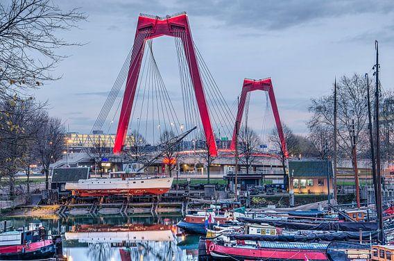 Willemsbrug en Oude Haven van Frans Blok