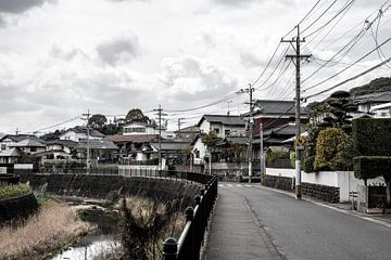 Straatjes de buurt van Dazaifu bij Fukuoka van Mickéle Godderis