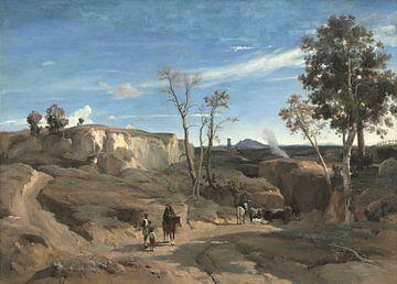 La Cervara, die römische Campagna, Jean Baptiste Camille Corot