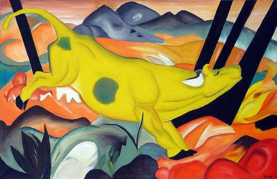 Gele koe van  Jan Wiersma