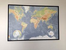 Kundenfoto: Weltkarte, klassisch von MAPOM Geoatlas, auf leinwand