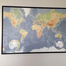 Kundenfoto: Weltkarte, klassisch von MAPOM Geoatlas