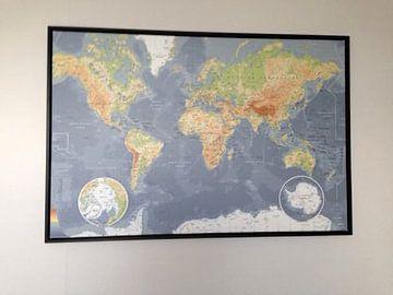 Klantfoto: Wereldkaart, Klassiek