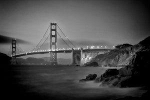 SAN FRANCISCO Golden Gate Bridge & Baker Beach | Monochrome