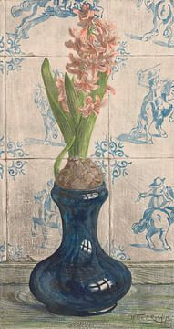 Hyazinthe auf einer Glasvase, Willem Roelofs (II), 1884 - 1931