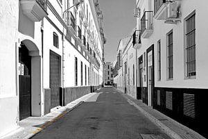 Stille straat in Sanlucar