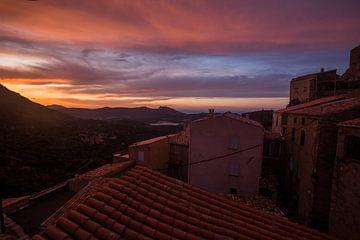 Zonsondergang Corsica, Frankrijk sur Rosanne Langenberg