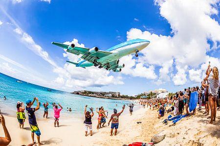 Laatste aankomst KLM 747 op Sint Maarten (SXM)