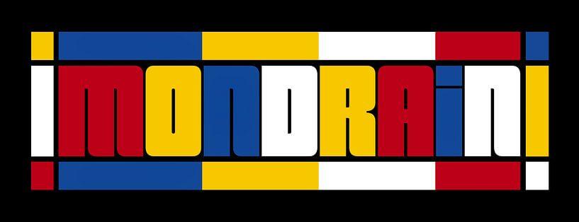 Typographie MONDRIEN sur Marion Tenbergen