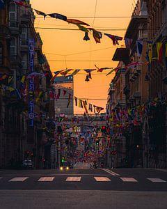 Zonsopgang in Genoa van Thomas Bartelds