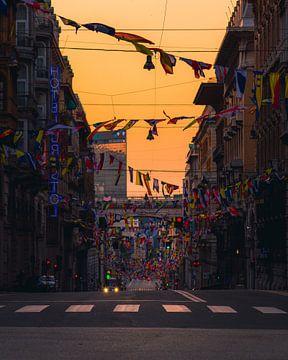 Lever du soleil à Gênes sur Thomas Bartelds