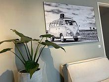 Klantfoto: Volkswagen Transporter T1 Samba camper uit de jaren '50 klassieke camper van Sjoerd van der Wal, als print op doek