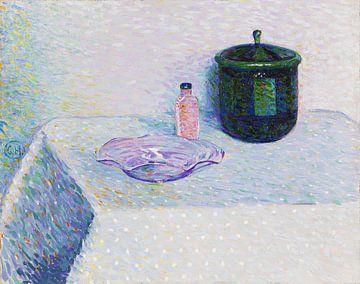 Stillleben mit Schale, Fläschchen und Deckeldose, CURT HERRMANN, 1904
