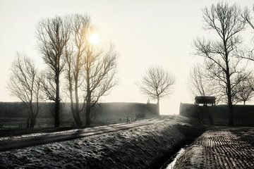 Winteratmosphäre im Johannes Kerkhovenpolder / Carelcoenraadpolder von Jan Sportel Photography