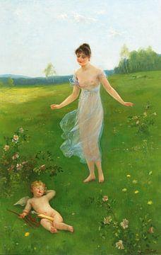 Frühling der Liebe, Otto Theodore Gustav Lingner - 1892 von Atelier Liesjes
