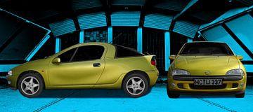 Opel Tigra in originele kleuren van aRi F. Huber