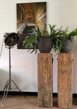 Kundenfoto: Treppenhaus in einer bunten Villa von Inge van den Brande
