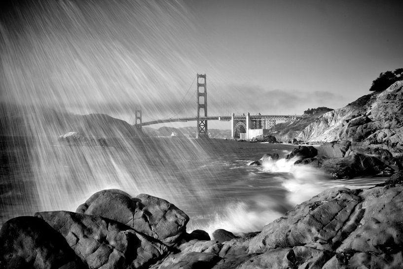 SAN FRANCISCO Baker Beach | Monochrome van Melanie Viola
