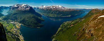Loen Skylift Uitzicht, Noorwegen van Adelheid Smitt