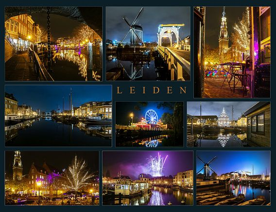 Leiden in de avond van Dirk van Egmond