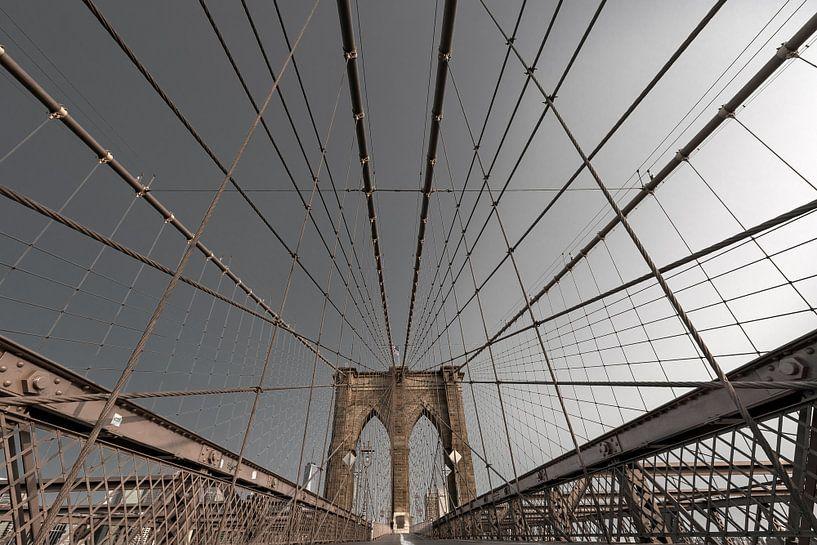 Brooklyn Bridge im Morgenlicht van Kurt Krause