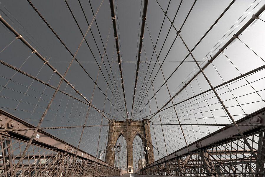 Brooklyn Bridge im Morgenlicht