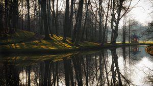 Reflecties en prieel op landgoed Elswout