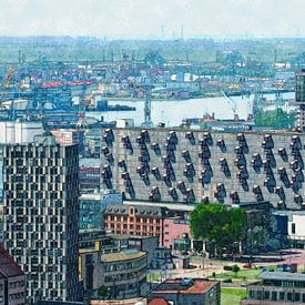 Quartier Lloyd et le Port de Rotterdam sur Frans Blok