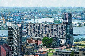 Das Lloyd-Viertel und der Hafen von Rotterdam von Frans Blok