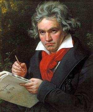 Porträt von Ludwig van Beethoven, Karl Joseph Stieler