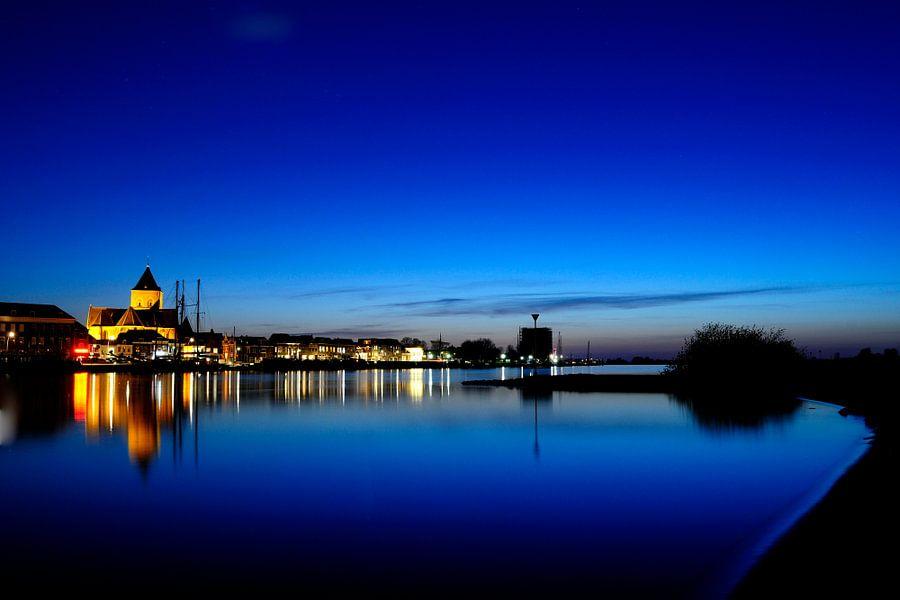 Kampen aan de IJssel in de nacht