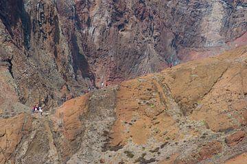 Ponta de São Lourenço mensen Hike op een berg van Robin van Maanen
