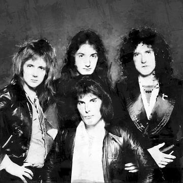 Olieverf portret van Queen (freddie Mercury) von Bert Hooijer