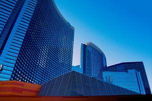 Las Vegas - Aria resort building in sky blue