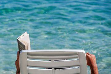 Lezen op het strand van Lars-Olof Nilsson