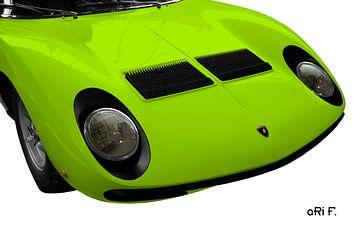 Lamborghini Miura in original green von aRi F. Huber