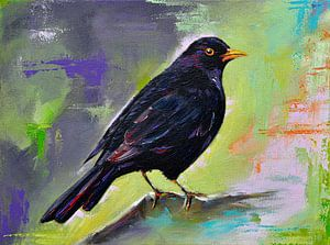 Malen Schwarzer Vogel