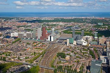 Luft Den Haag Hauptbahnhof Bereich von Anton de Zeeuw