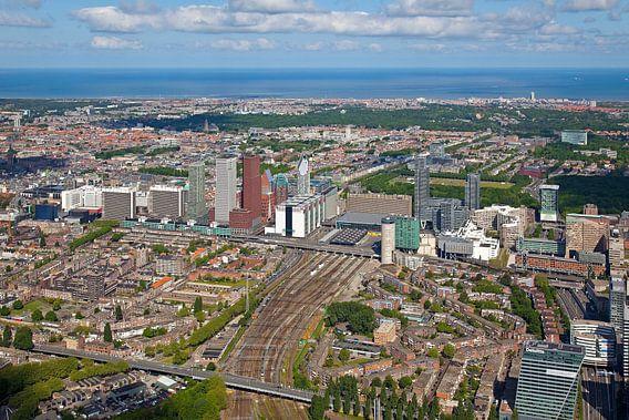 Luchtfoto Den Haag Centraal Station gebied van Anton de Zeeuw