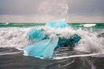 Jökulsárlón Glacier Lagoon / diamond beach, Iceland van Sander Schraepen