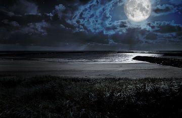 Maan aan zee van BVpix