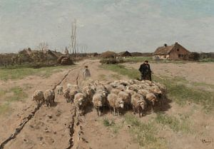 Schapen in het landschap, Anton Mauve van