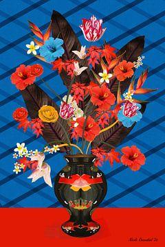 Japanse bloemen mix van Nicole Roozendaal