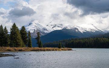 Prachtige kleuren bij Maligne Lake. van Samantha van Leeuwen