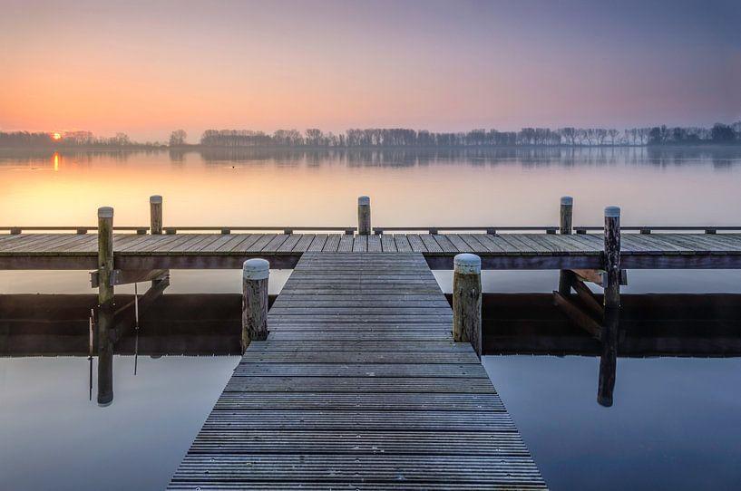 Spring sunrise van Martijn van der Nat