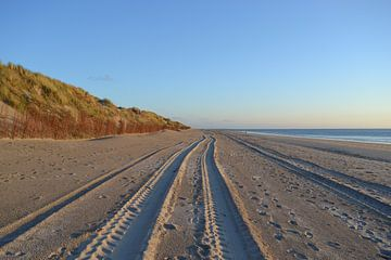 Zeeland, Ouddorp , sporen in het zand van Bernard van Zwol