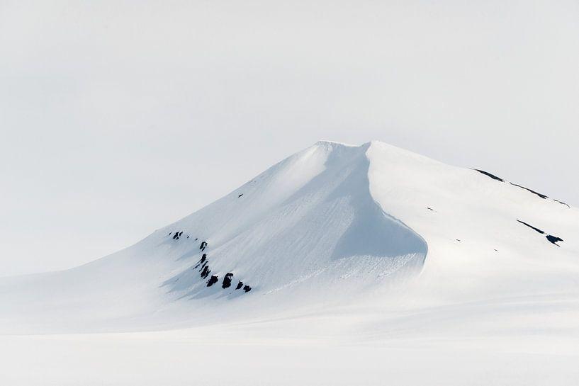 Maagdelijk witte berg op Spitsbergen van Gerry van Roosmalen