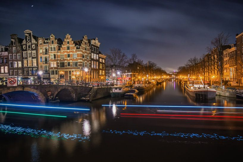 Amsterdam by Night II van Martin Podt