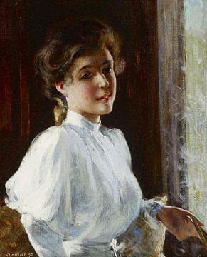 Une jeune fille, Willard Metcalf sur