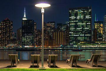 New York bei Nacht von Kees Jan Lok